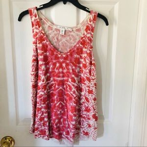 NWOT Max studio pink leopard sweater tank size S